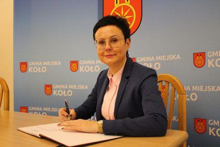 Zdjęcie przedstawia Sekretarz Miasta Koła Monikę Ciesielską